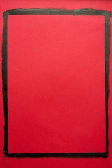 오일 페인트로 종이에 그려진 블랙 프레임