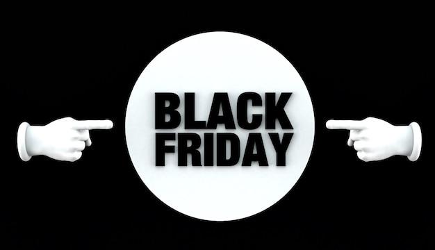 블랙 프라이데이 배너입니다. 판촉, 광고, 판매 또는 제품에 대한 배경. 3d 그림입니다.
