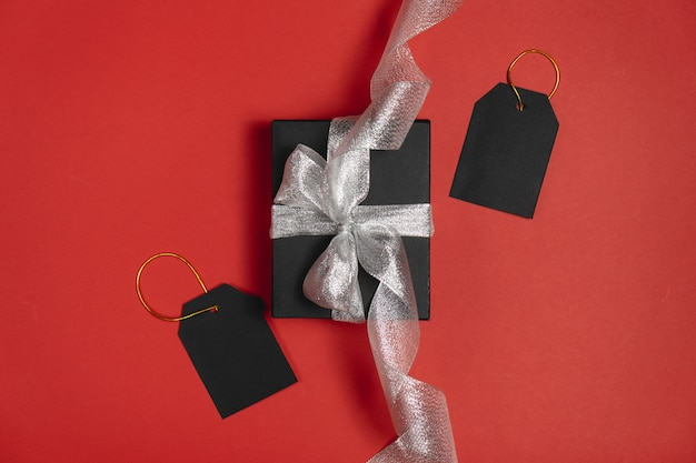 Black friday box gift present isolated.