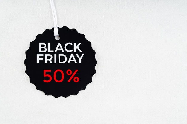 Black friday discount tag