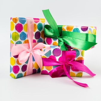 Black friday gifts on plain background