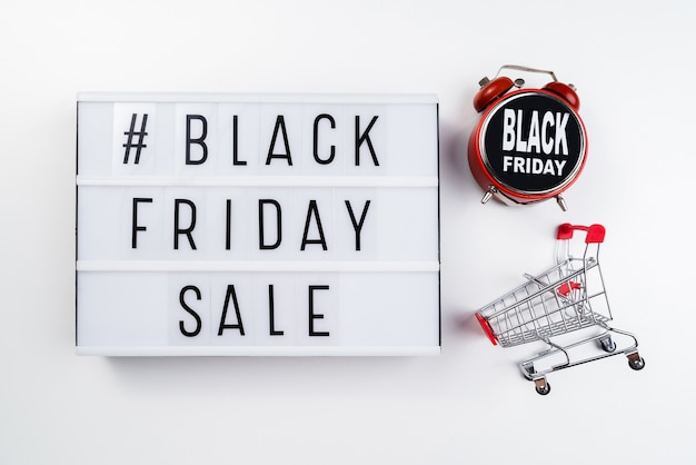 Black friday light box with alarm clock