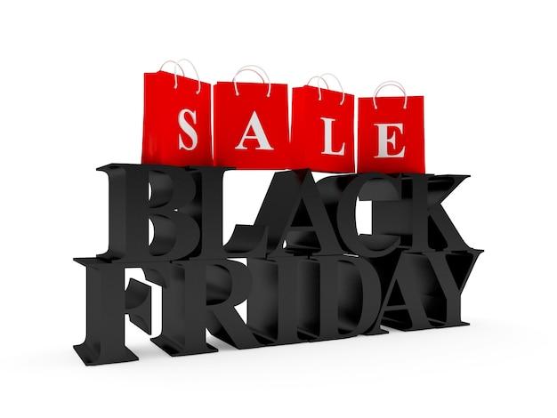 Черная пятница распродажа и сумки для покупок