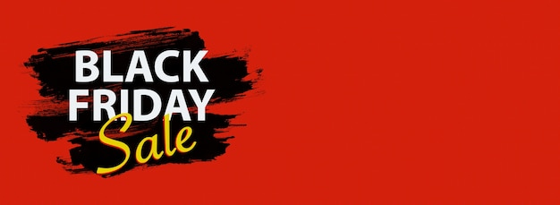 ブラックフライデーセール、テキスト用の場所を備えた伝統的な色の黒赤黄色のバナーの割引。