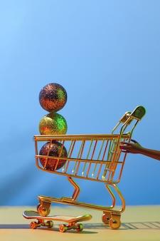 Черная пятница распродажа - футуристическая концепция праздничных покупок, время за покупками.