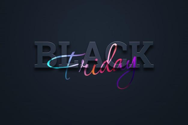 Black friday sale lettering illustration