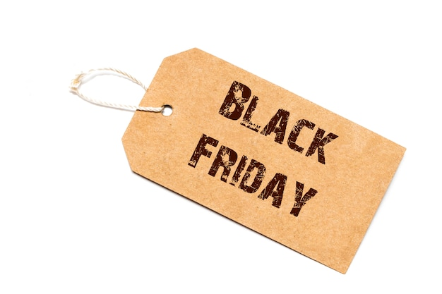 Black friday sale sign with thread