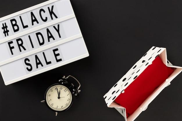 Черная пятница распродажа текст на лайтбоксе
