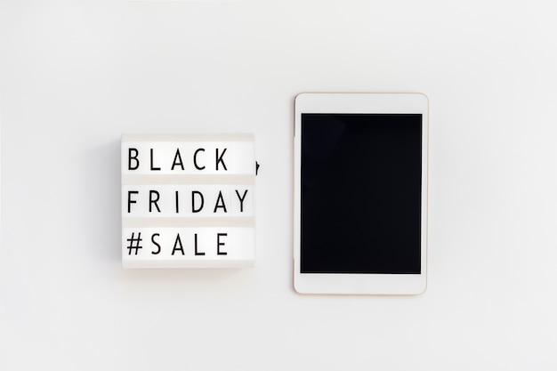 흰색 금요일에 검은 금요일 판매 텍스트