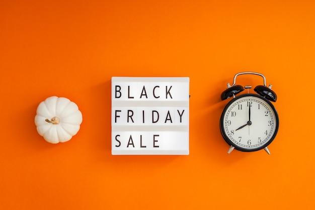 Black friday sale text on white lightbox