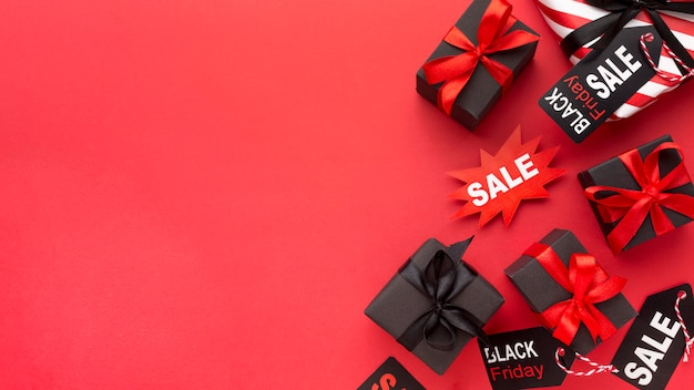 Black friday sales arrangement with copy space