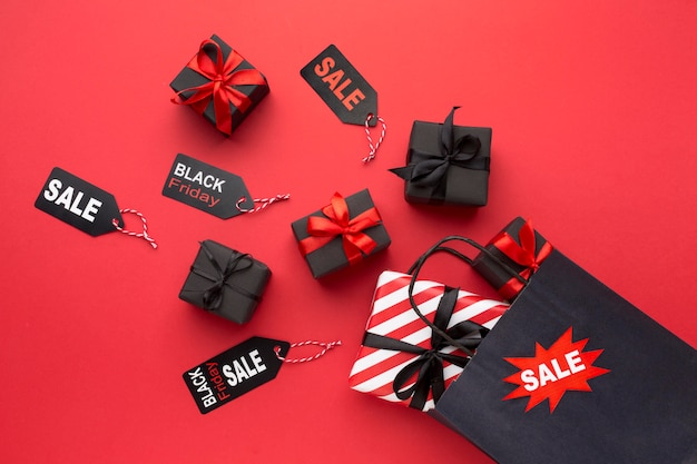 Black friday sales arrangement