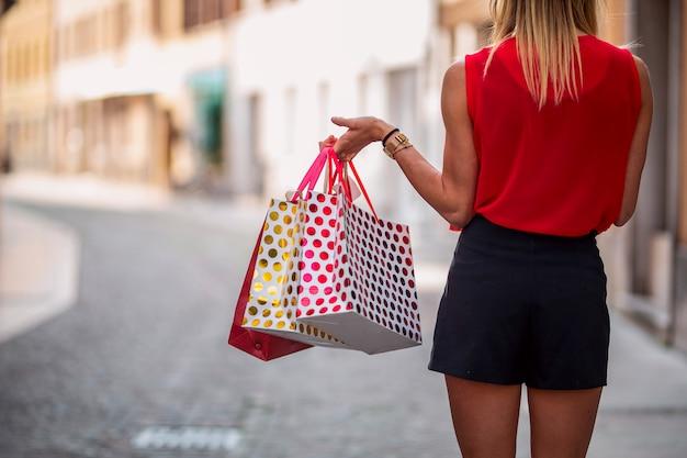 Black friday. shopping girl
