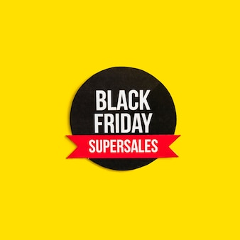 Black friday super sales inscription