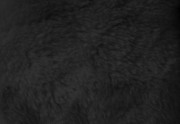 Black fur background close up view. texture wallpaper
