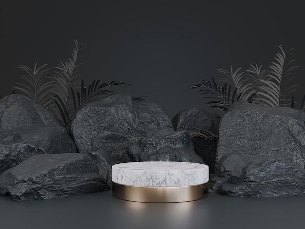 Black geometric stone rock shape background