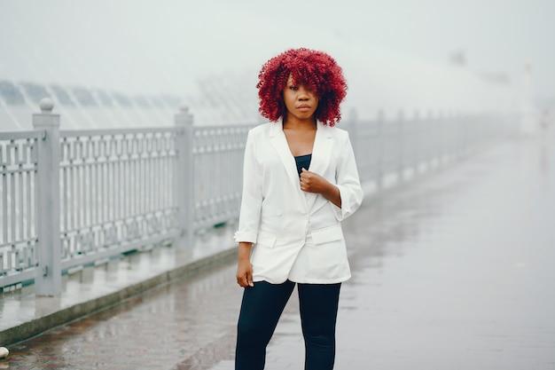 Black girl in a summer park