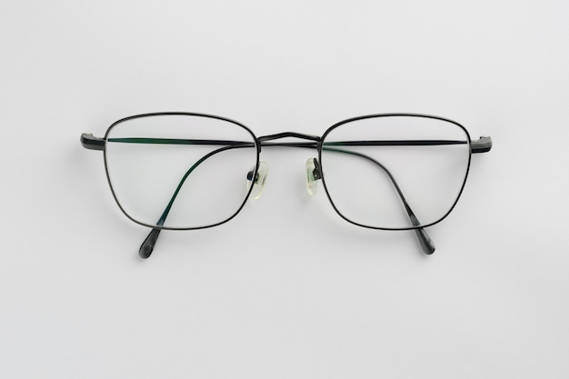 Black glasses isolated