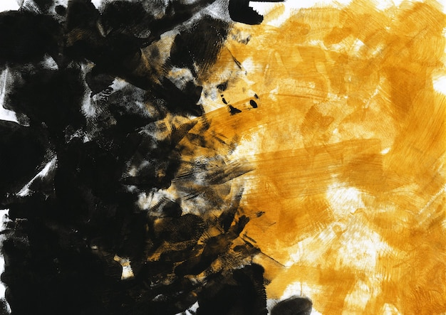 Black and gold acrylic paint texture. modern art