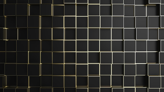 Black and gold edge background texture.
