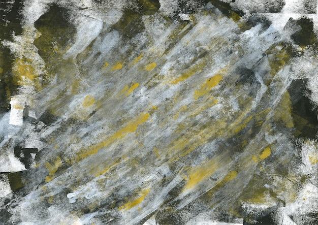 Black gold expression acrylic texture. modern art
