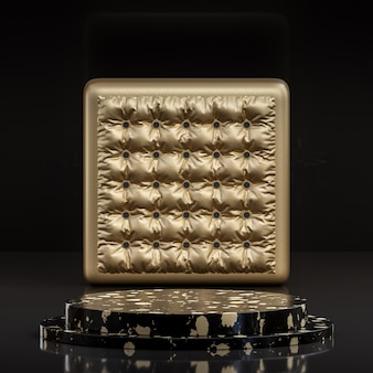 Black and gold podium stand luxury
