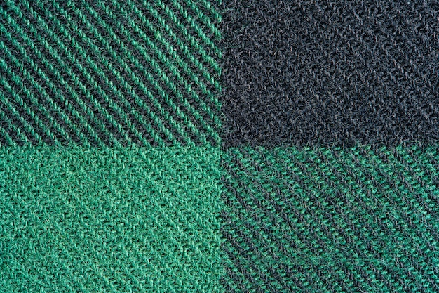 Black and green fabric texture