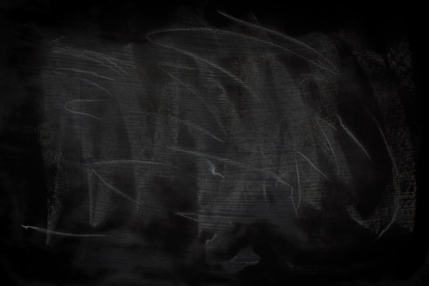 Black grunge texture with copyspace. abstract chalk rubbed out on blackboard.