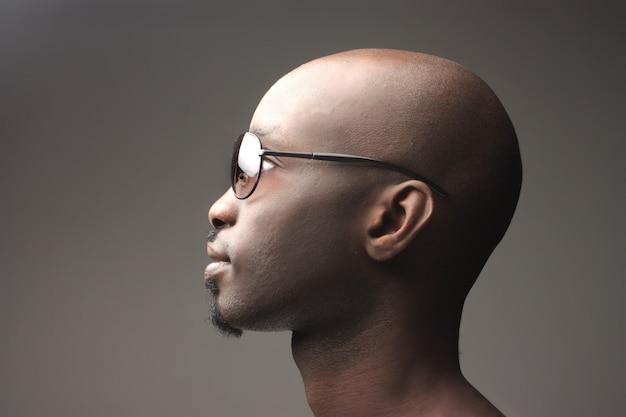 Black guy wearing sunglasses