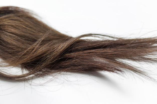 Black hair over white