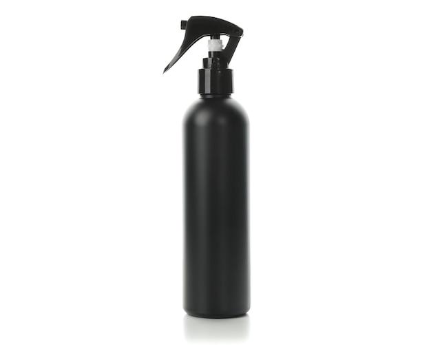 Black hairdressing spray isolated