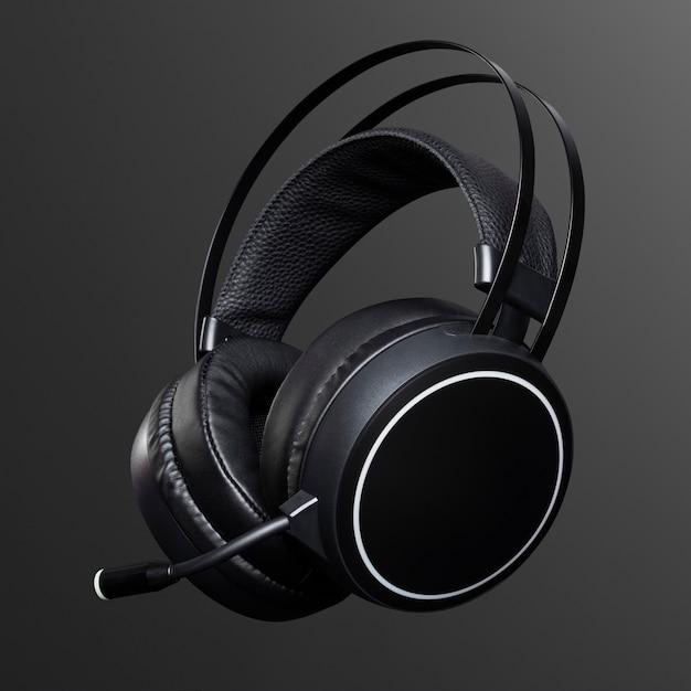 黒のヘッドフォンデジタルデバイス