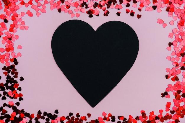 발렌타인 데이에 검은 심장.