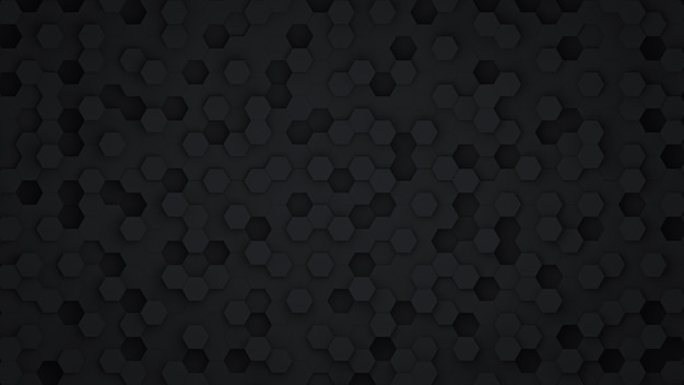 Black hexagon abstract background