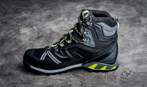 Black hiking boot