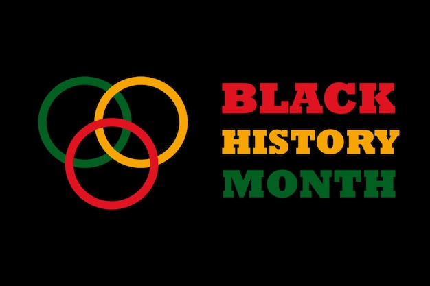 黒人歴史月間-アフリカ系アメリカ人の歴史月間-2月のお祝いと表彰のための背景デザイン。奴隷制、人種差別、偏見、貧困との戦いの象徴。