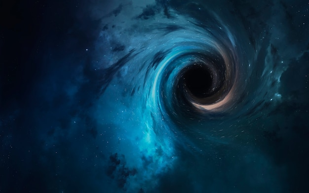 Black hole. abstract space wallpaper. universe filled with stars, nebulas, galaxies and planets.