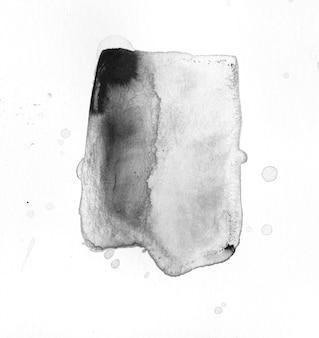 黒インクの抽象的な形の背景。
