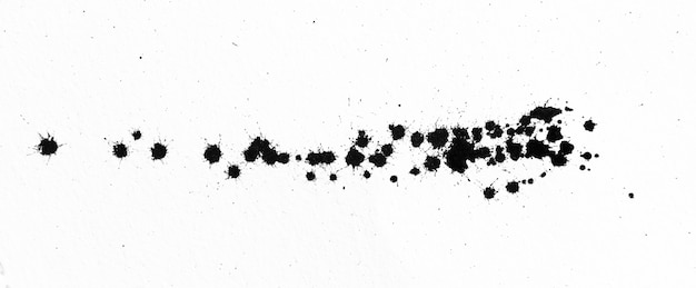 Форма черных чернил на текстуре акварельной бумаги