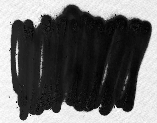 水彩紙の質感に黒インクの形