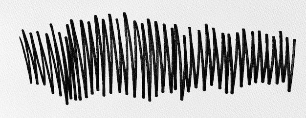 水彩紙のテクスチャに黒インクの形