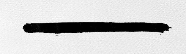 黑色墨水在水彩纸上的形状纹理Premium Photo