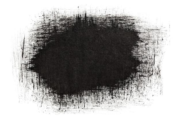 Мазки черными чернилами, изолированные на белом фоне