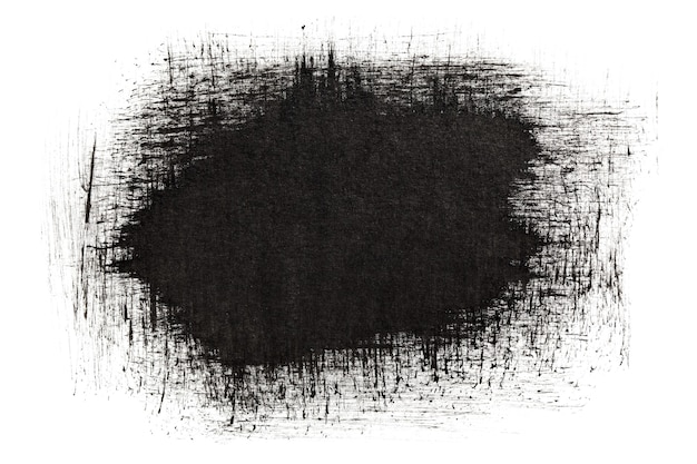 Black ink strokes isolated on the white background