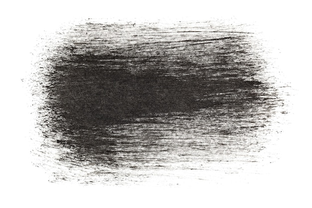 Black ink strokes isolated over the white background