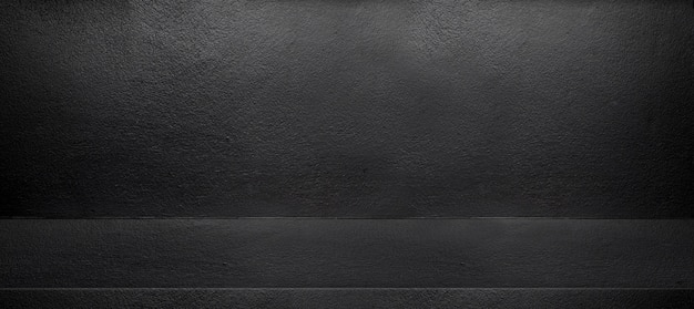 Black interior cement wall room background