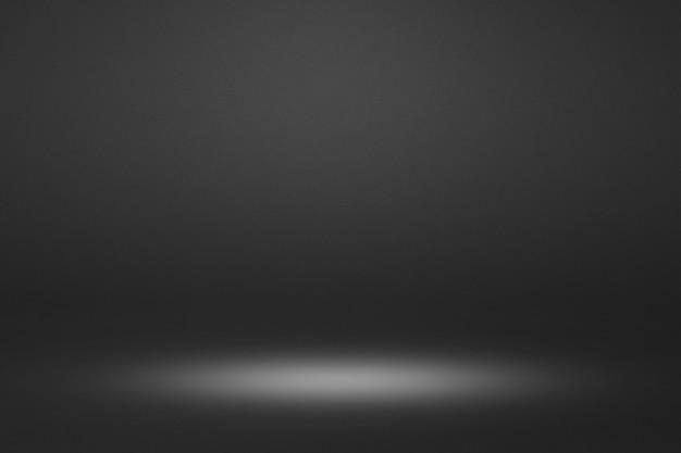 Черный салон. пустой горизонтальный шаблон сцены