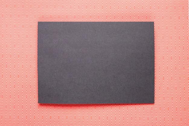 Black invitation with orange background