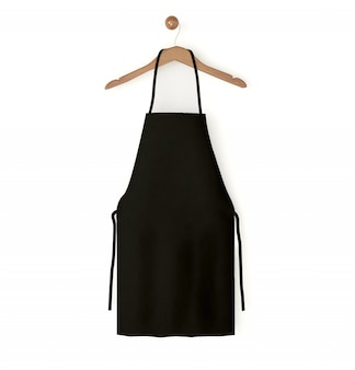 Black isolated apron