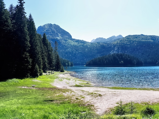 Black lake in montenegro